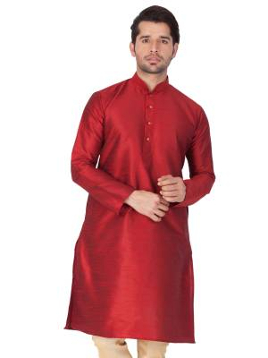 Take your ethnic style quotient to the next level by wearing this fashionable kurta set. which has been designed keeping the latest trends in mind. This set is a must have in a men's ethnic wardrobe. Tailored from finest fabric and fashioned with a banded collar for a dash of style. It will augment your look and make you the centre of attraction at any occasion